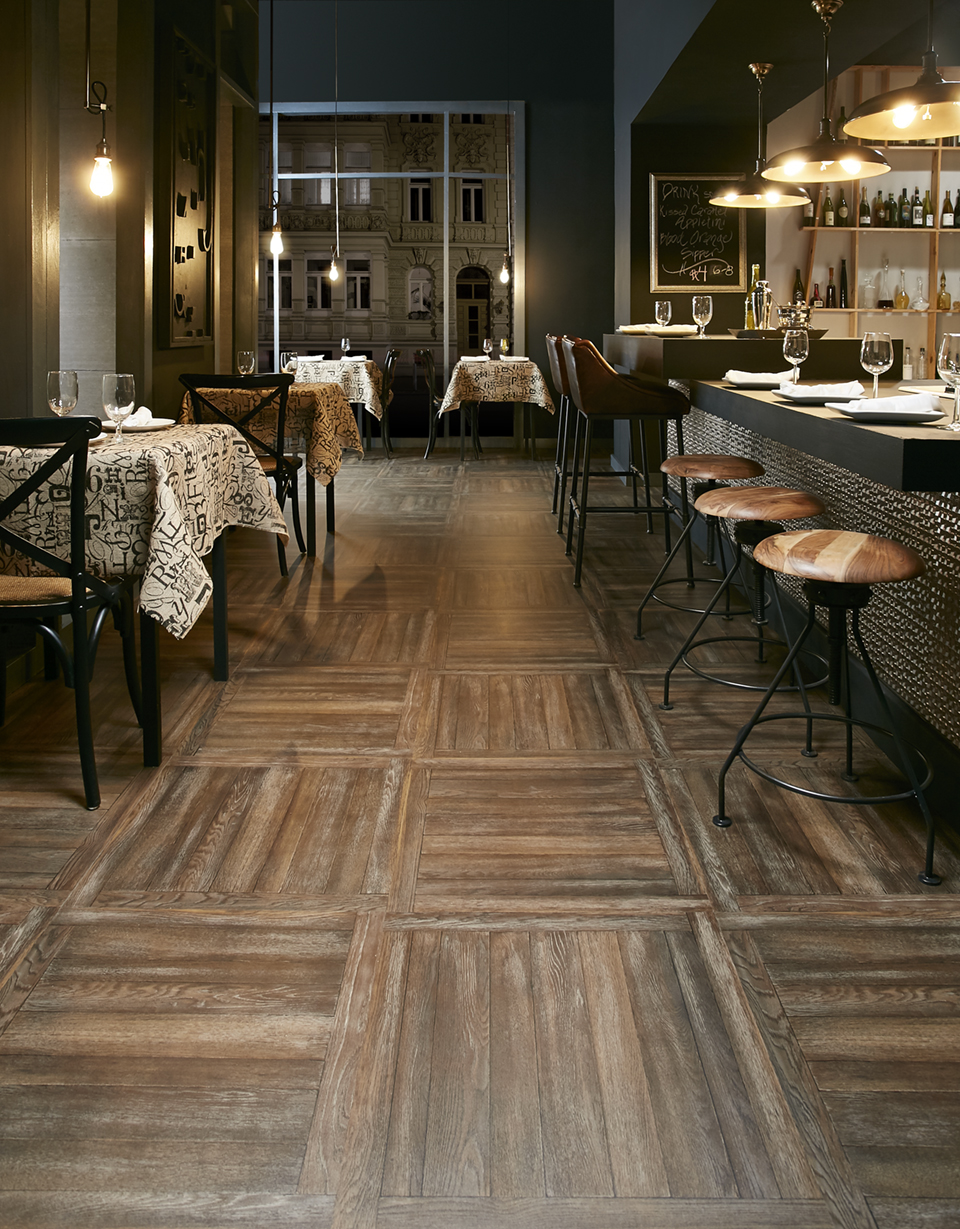 Lake House LVT featured in a Restaurant